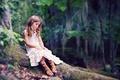 Картинка девочка, лес, природа