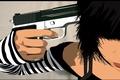 Картинка Вектор, пистолет, оружие, депрессия