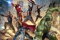 Картинка фантастика, фильм, арт, Халк, Железный человек, приключения, боевик, Капитан Америка, супергерои, Тор, Мстители, Черная Вдова, ...