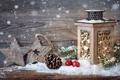 Картинка merry christmas, lantern, star, С Рождеством Христовым, cherry, new year, Новым годом, pineapple, ананас, вишня, ...