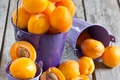 Картинка fruit, apricots, фрукты, Buckets, Ведерки, абрикосы