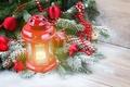 Картинка Xmas, Новый Год, snow, снег, candle, зима, Merry, lantern, Рождество, Christmas, light, decoration, winter