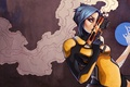 Картинка оружие, Borderlands 2, дым, девушка, Maya, арт, пистолет