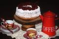 Картинка смородина, торт, натюрморт, кофе, десерт
