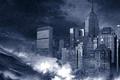 Картинка Нью-йорк, здания, волна