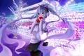 Картинка сердечко, hatsune miku, арт, kuroi, зима, наушники, аниме, девушка, vocaloid
